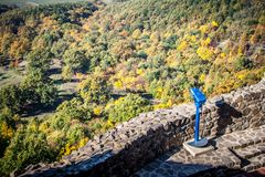 Autumn Forest. The look out tower with a autumn landscape Royalty Free Stock Photos
