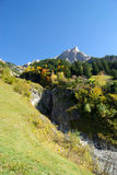 Autumn forest and alps Royalty Free Stock Photo