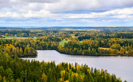 Autumn forest and lake view II. Lake and trees in autumn Royalty Free Stock Photos