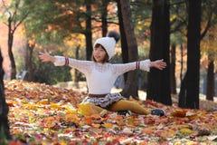 Autumn forest nature beautyl,eisure park. Autumn forest nature beauty kids babygirl,families stock photos