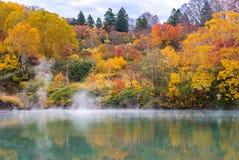 Autumn Onsen Lake Aomori Japan Royalty Free Stock Image
