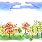 Autumn Forest Park illustration de vecteur