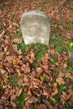 single tomb stone Royalty Free Stock Photo