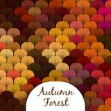 Autumn Forest Scaly Texture Royalty Free Stock Photography