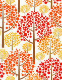 Autumn forest. Seamless background. Beautiful seamless pattern of red autumn forest Stock Photography