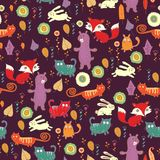 Autumn forest seamless pattern Royalty Free Stock Image