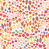 Autumn forest seamless pattern Royalty Free Stock Photography