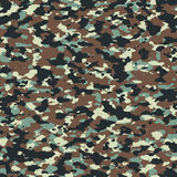 Autumn forest woodland seamless camo pattern Royalty Free Stock Images