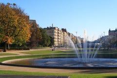 Autumn Fountain Fotografie Stock