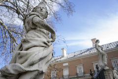Autumn, Fountains and gardens of the palace of Aranjuez in Madri Royalty Free Stock Images