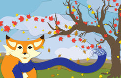 Autumn Fox in Portrait View Royalty Free Stock Photo