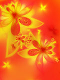 Autumn fractal flower Stock Photos