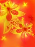 Autumn fractal flower Stock Photos
