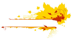 Autumn frame. Illustration of abstract autumn frame Royalty Free Stock Photo