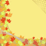 Autumn frame. Golden autumn frame,  illustration Royalty Free Stock Photography