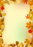Autumn frame Stock Image