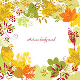 Autumn frame. With place for your text Royalty Free Stock Photo