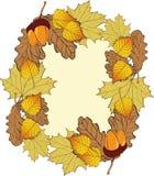 Autumn frame . Royalty Free Stock Image