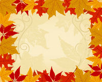 Autumn frame royalty free illustration
