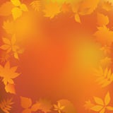 Autumn frame. Abstract frame of yellow leaves Stock Photo