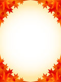 Autumn Frame. Simple and beautiful backdrop of autumn foliage Royalty Free Illustration