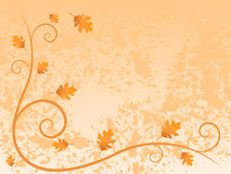 Autumn Frame. Illustration autumn swirl and leaf frame on textured background Royalty Free Stock Images