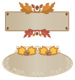Autumn Frame Assortment Horizontal Stock Photography