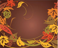 Autumn frame background Stock Image