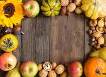 Autumn frame background Stock Photos