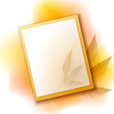 Autumn frame background Royalty Free Stock Images