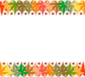 Autumn frame background Stock Photos