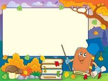 Autumn frame with book teacher 1 Royalty Free Stock Photos