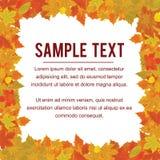 Autumn Frame del follaje el caer Vector del diseño Foto de archivo libre de regalías