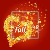 Autumn Frame en la forma del corazón Fotografía de archivo