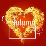 Autumn Frame en la forma del corazón Fotografía de archivo libre de regalías