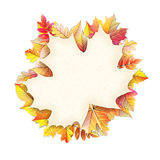 Autumn frame with fall leaf. EPS 10. Vector file included Stock Photo