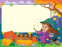 Autumn frame with Halloween theme 2 Royalty Free Stock Photos