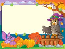 Autumn frame with Halloween theme 5 Stock Image