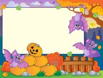 Autumn frame with Halloween theme 7 Stock Image