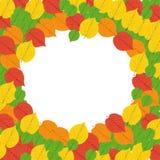Autumn Frame - Illustration. Frame from bright autumn leaves around Stock Photos