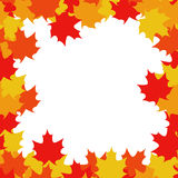 Autumn Frame - Illustration. Frame from bright autumn leaves around Royalty Free Stock Image