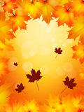 Autumn frame. Illustration of autumn frame with leaves Stock Photography