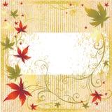 autumn frame leafs thanksgiving vector 免版税库存照片