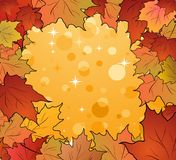 Autumn frame made in maples Royalty Free Stock Images