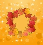 Of autumn frame made in maples Stock Images