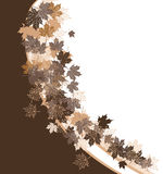 Autumn frame: maple leaf. Royalty Free Stock Images