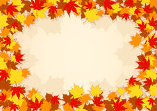 Autumn frame. With maple leaves, room for text Royalty Free Stock Photography