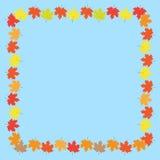 Autumn Frame With Maple Leaves sobre o fundo branco Ilustração do vetor Imagens de Stock
