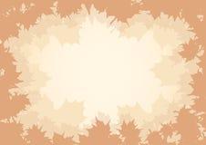 Autumn frame silhouette Stock Photo