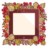 Autumn frame. Template for a designer Stock Photography